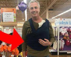 Papá salió a pasear con su bebé y subió esta foto – pero nunca se imaginó que iba a crear tanta polémica