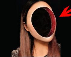 Creen que se hizo un hueco en la cara con Photoshop, pero al abrir los ojos revela la impactante verdad