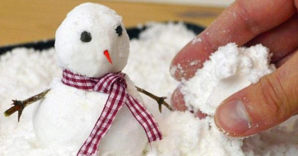 Así haces nieve artificial con solo 2 ingredientes