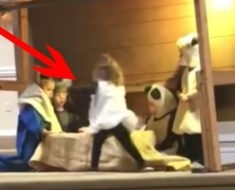 Nena roba al niño Jesús del pesebre – y luego se pone a pelear con la Virgen