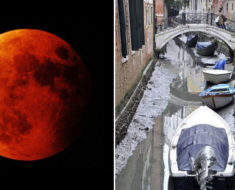 """La bella Venecia se ha secado y la culpa la tiene la """"Súper Luna de sangre azul"""""""