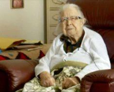 Ladrón armado irrumpe en casa de Doris, 99 años, luego ella se enfrenta y le habla claro