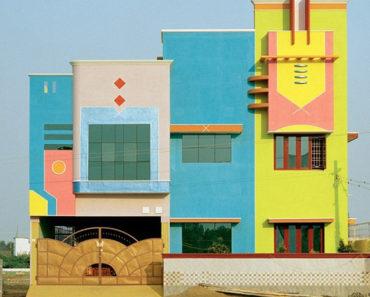 Las coloridas casas del diseñador Ettore Sottsass en Tamil Nadu, India