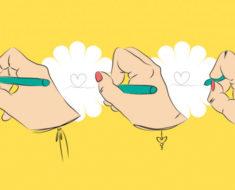 La forma en la que agarras el lápiz te dice como eres