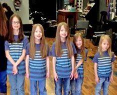 Acosan a sus 6 hijos por su pelo largo, pero entonces se lo cortan y todos descubren por qué