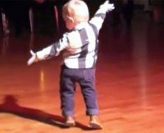 Alguien toca una canción de Elvis y entonces este bebé enloquece