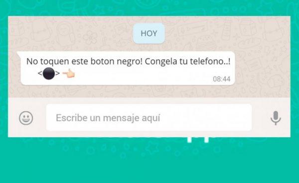 ¿Qué es ese botón negro de WhatsApp que está asustando a todo el mundo?