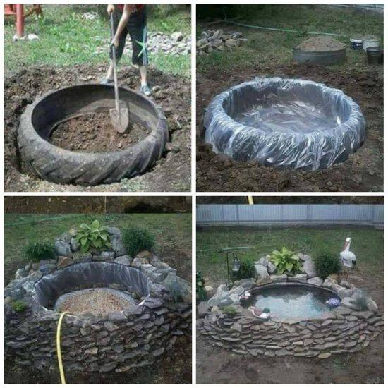 Nadie entiende por qué papá entierra neumático viejo en jardín, una mirada en el resultado y me encantó
