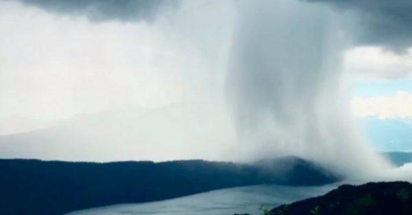 La impresionante lluvia que se volvió viral en Internet