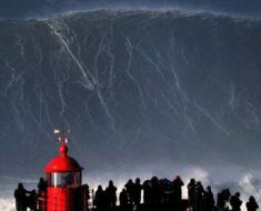 Brasileño surfea la ola más grande del mundo y bate el record mundial