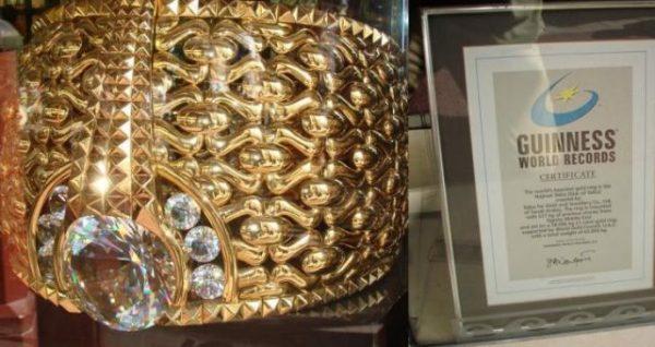 El anillo más grande del mundo se encuentra en Dubai